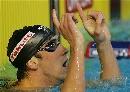 图文:男子200米蝶泳决赛 菲尔普斯破纪录成习惯