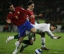图文:塞尔维亚1-1葡萄牙 C罗寡不敌众