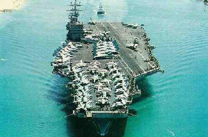 """资料图片:美国海军核动力航母""""艾森豪威尔""""号.图片"""