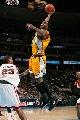 图文:[NBA]掘金负超音速  维尔考克斯扣篮