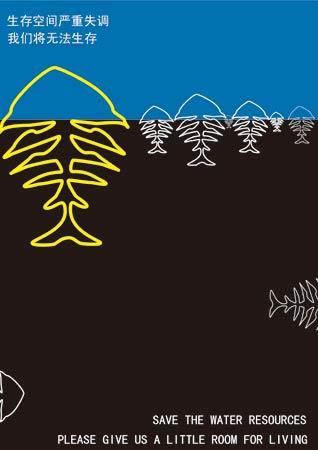 保护水资源招贴画-我们的生存空间