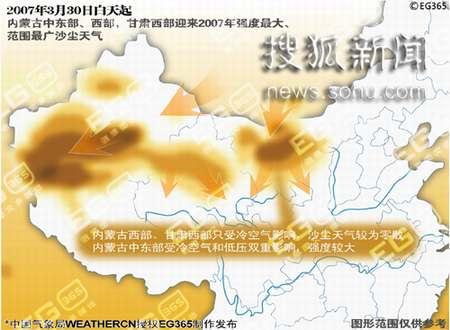 2007年第一次沙尘天气