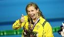 图文:澳大利亚选手伦顿获女子100米自由泳冠军