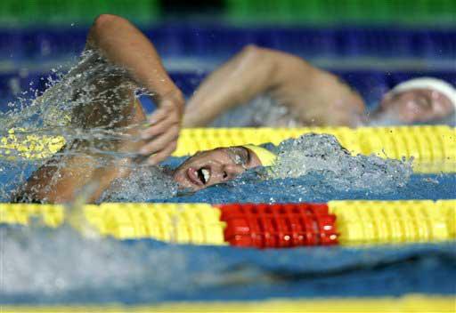 >奥运会男子1500米自由泳; 自由泳手臂动作图解;