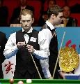 图文:[台球]中国公开赛决赛 柯普在比赛中