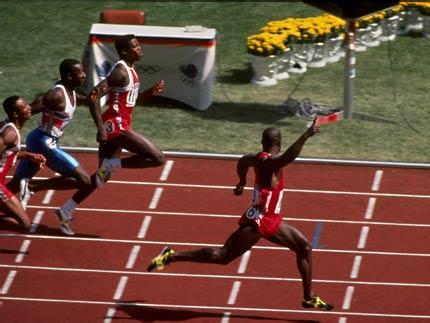 本-约翰逊在汉城奥运会赛场上