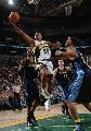 图文:[NBA]掘金胜超音速 艾尔-沃特森单手上篮