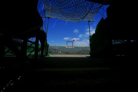 图文:奥运沙滩排球球场 通行便利的观众通道