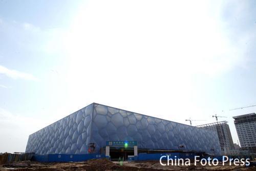 图文:国家游泳馆水立方巡礼 水立方全景一览