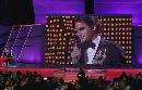 图文:劳伦斯颁奖晚会 费德勒录像感言