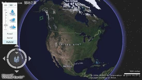 不甘人后 微软推3D虚拟地球对抗Google Earth