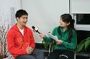 图文:田亮亲口确认已退役 与记者在一起