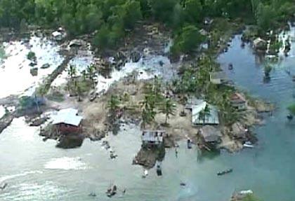 南太平洋幼女性交平_这张4月3日的电视照片显示,南太平洋岛国所罗门群岛附近发生地震和
