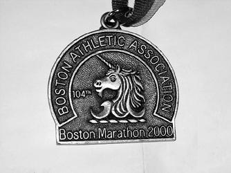 2000年波士顿国际马拉松赛银牌