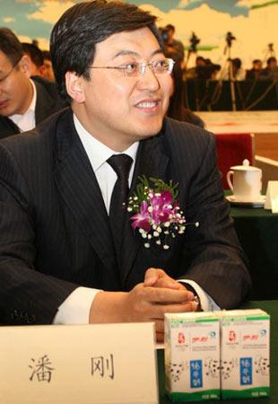 图文:伊利奥运健康中国行启动 潘刚