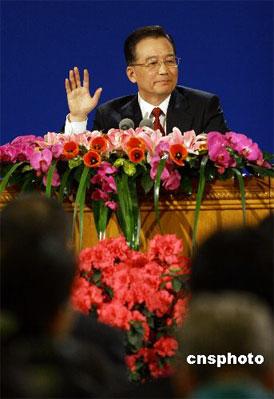 中国国务院总理温家宝(资料图) 中新社发 刘新 摄