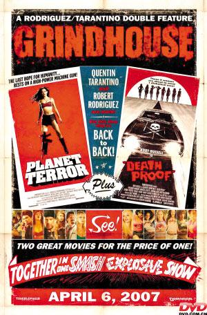 昆汀·塔伦蒂诺与罗德里格兹强强联手打造的《磨坊》(图为海报),有僵尸与杀人狂,更有影评人褒奖,却没有理想票房。