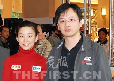 潘晓婷和她的教练曾仲豪