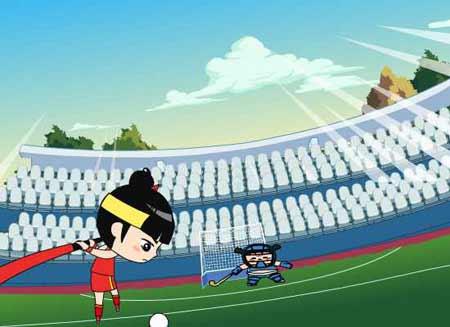 图文:2008卡通也奥运之动漫片 曲棍球