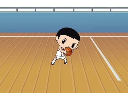 图文:2008卡通也奥运之动漫片 篮球