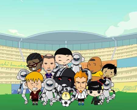 图文:2008卡通也奥运之动漫片 足球