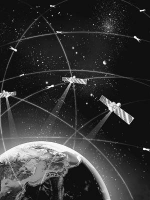 北斗卫星导航系统示意图 钟 新制