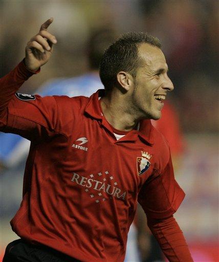图文:联盟杯西甲三强晋级 戈麦斯庆祝进球