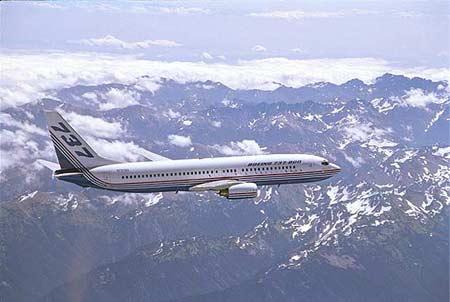 飞机的星形�yb�9�._波音737系列飞机:b737-800型   b737-800型:加长型,可以载客162-189