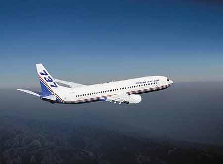 飞机的星形�yb�9�._波音737系列飞机:b737-900型(组图)