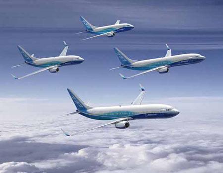波音737飞机家族新涂装