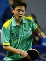 图文:巴西乒乓球公开赛 14岁巴西小将生田比赛