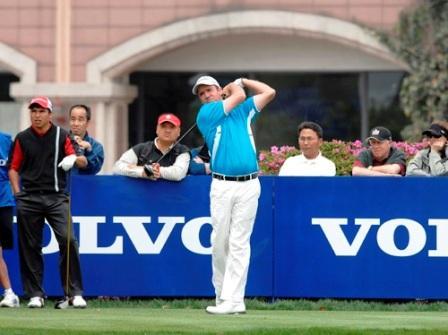 图文:VOLVO中国公开赛第三轮 斯科特大力开球
