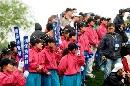 图文:VOLVO中国公开赛第三轮 认真敬业的球童