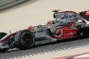 图文:[F1]巴林大奖赛排位赛 汉密尔顿在比赛中