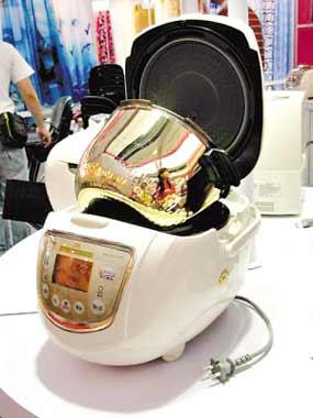 内胆采用纯金做涂层的电饭煲。