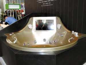 SPA浴缸能边洗浴边看大片。