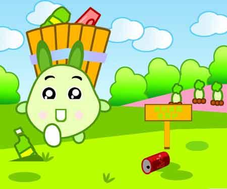 呵护绿色儿童画