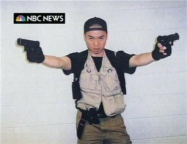 凶手在杀戮间隙向NBC电视台寄送照片及视频。