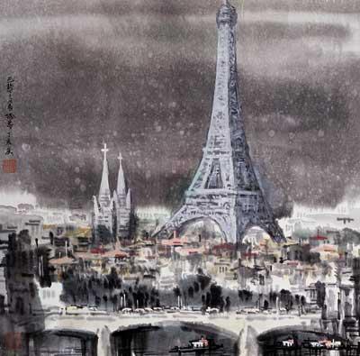 徐希作品《法国埃菲尔铁塔》