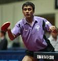 图文:乒球巡回赛智利站 印度选手回球一板一眼