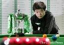 2007年世锦赛丁俊晖与多特狭路相逢 图为丁俊晖