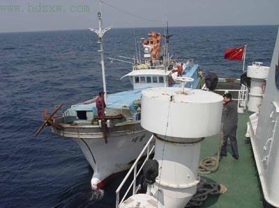 此次巡航,登检渔船十八艘次,处罚了三艘次