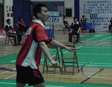 图文:六城会羽毛球预选赛 国家二队小将杜鹏宇
