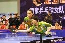 图文:中国女乒队内热身赛 白杨木子淘汰大姐大