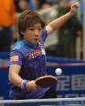 图文:中国女乒热身赛冷门迭出 刘诗雯在比赛中