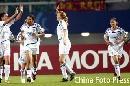 图文:[女足]中国VS明星联队 对手庆祝扳平比分