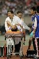 图片:[中超]浙江0-0北京 绿城球员受伤