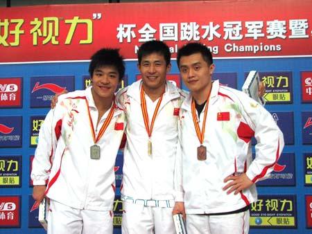 图文:全国跳水冠军赛 老将彭勃状态稳步回升