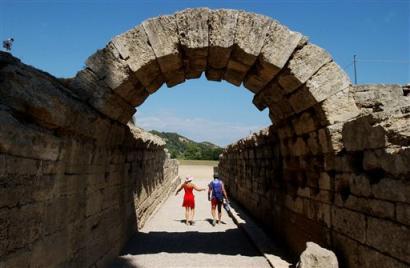 古代奥运会奥林匹亚运动场入口