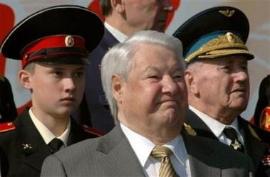 2006年5月9日,叶利钦参观莫斯科的阅兵